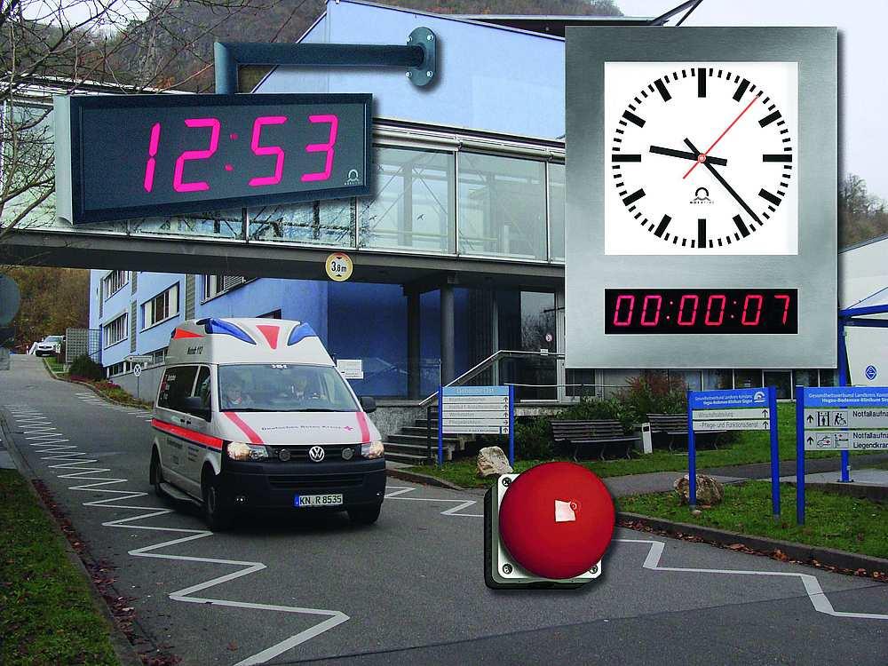 Modernisierung von Uhrenanlagen in Krankenhäusern