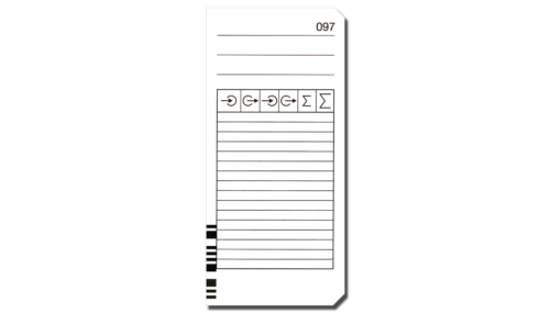 Stempelkarten für rechnende Stempeluhren