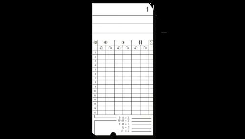 Stempelkarten für elektromechanische Stempeluhren
