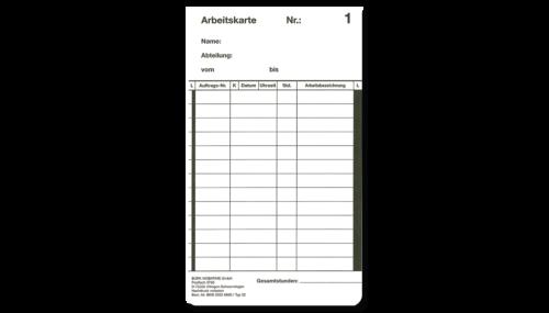 Stempekarten für mechanische Stempeluhren