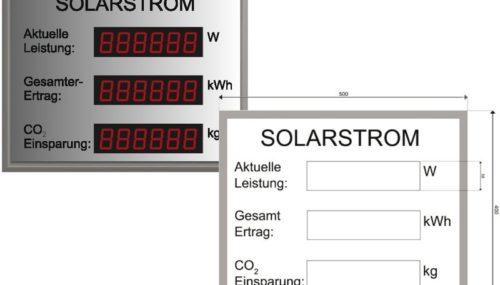 Photovoltaik-Anzeige Modellreihe DS.38