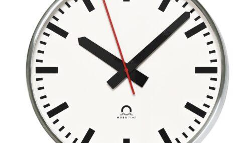 Edelstahl-Innenraum-Uhr STANDARD plus V2A