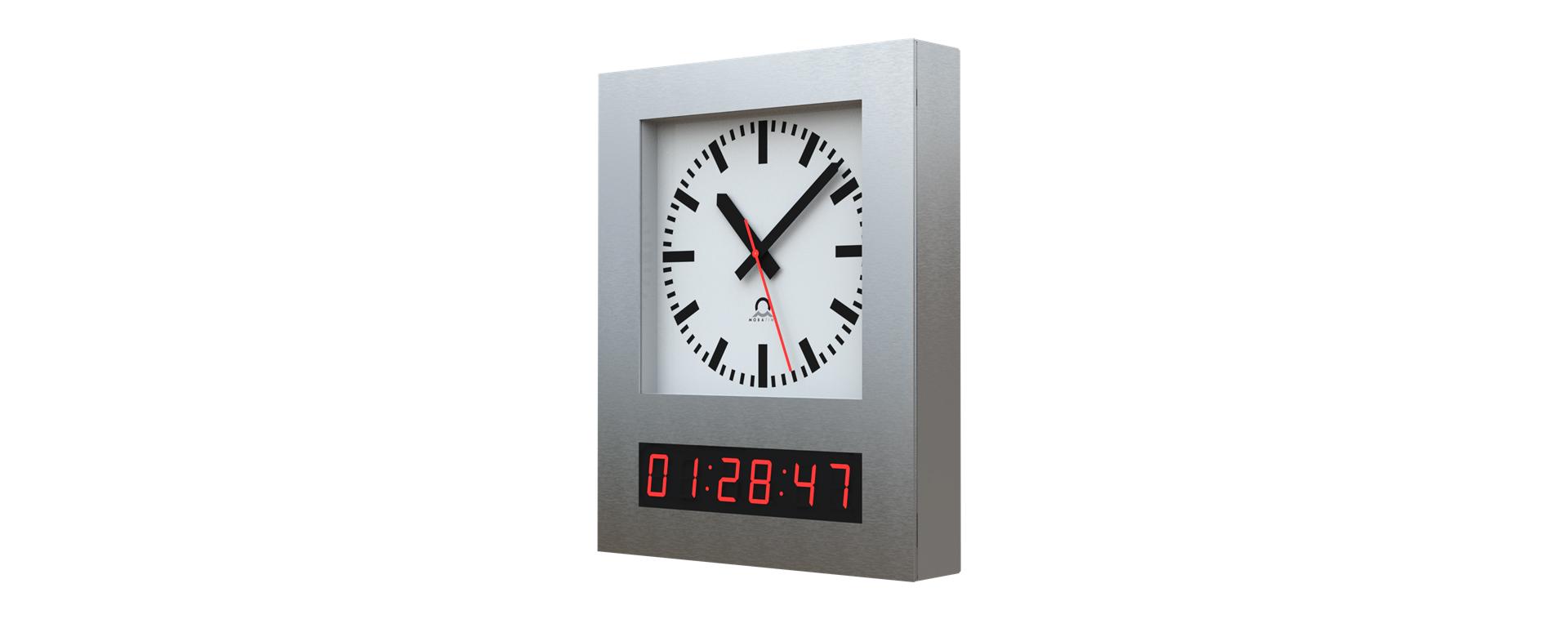 Edelstahl-Uhren für Reinraumumgebung, Chemiebetriebe, Labors sowie die Prozess- und Lebensmittelindustrie